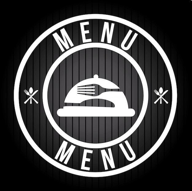 Menu logo design grafico