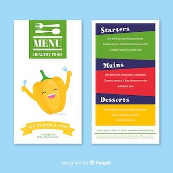 Menu per bambini del ristorante