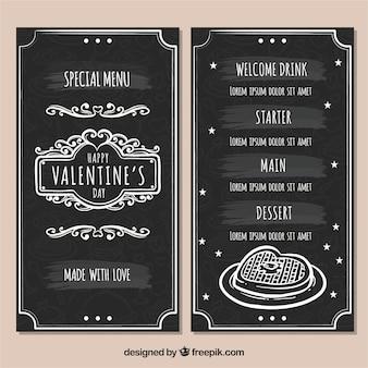 Menu vintage di san valentino