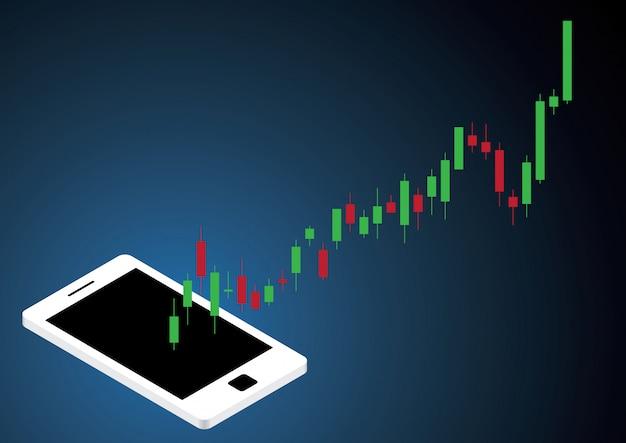 Mercato azionario del bastone della candela del mercato azionario