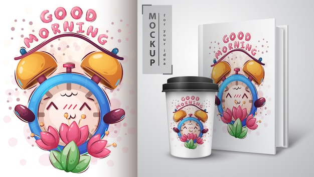 Merchandising sveglia con fiori