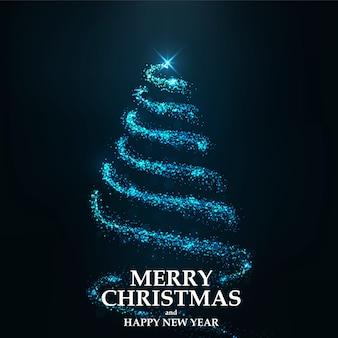 Merry christmas card albero di natale
