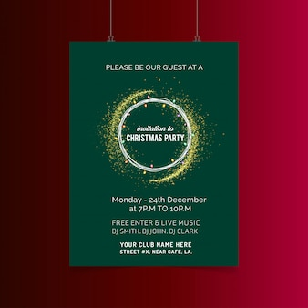 Merry christmas card con design creativo