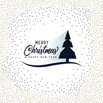 Merry christmas card design con albero