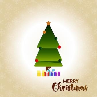 Merry christmas card e sfondo