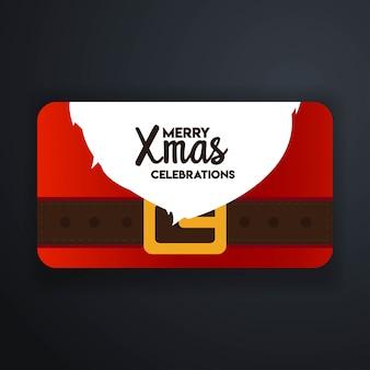 Merry xmas celebration santa card background