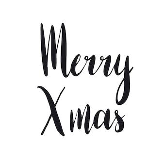 Merry Xmas tipografia vettoriale