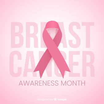Mese di sensibilizzazione per il design piatto del cancro al seno