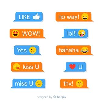 Messaggi con reazioni emoji