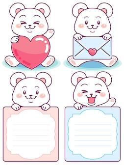 Messaggi di orso carino