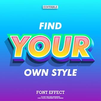 Messaggio di citazione ispiratore con effetto font moderno e colore sfumato