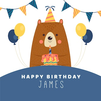 Messaggio di instagram desiderio di compleanno con l'orso