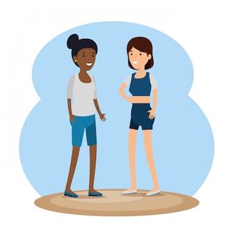 Messaggio sociale della community di amici di ragazze