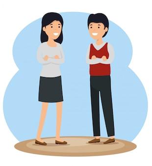 Messaggio sociale della comunità della ragazza e del ragazzo
