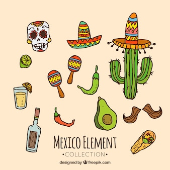 Messico collezione di elementi