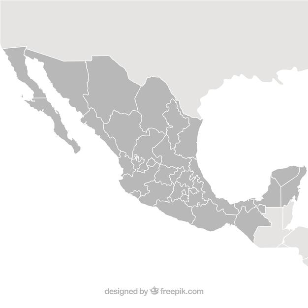 Messico mappa vettoriale