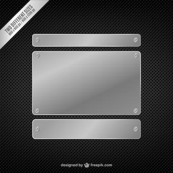 Metallo sfondo vettoriale