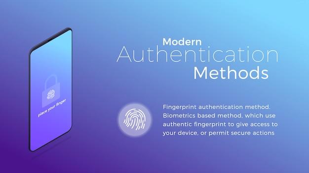 Metodo di autenticazione biometrico moderno dell'impronta digitale