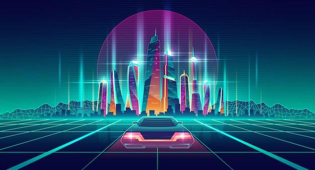 Metropoli virtuale in simulazione digitale