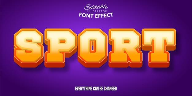 Metti in mostra il testo, l'effetto di carattere modificabile arancione e giallo 3d