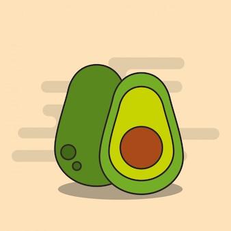 Mezza dieta nutrizione avocado raccolto