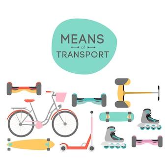 Mezzi dell'illustrazione della priorità bassa di trasporto con area di testo