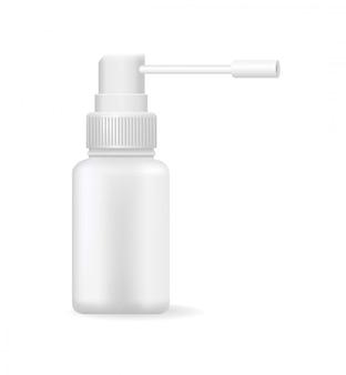 Mezzi medici nell'illustrazione luminosa di vettore della bottiglia