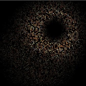 Mezzitoni punteggiato di fondo oro