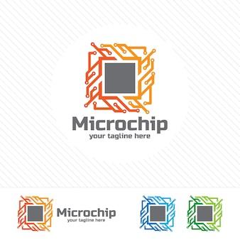 Micro chip astratto