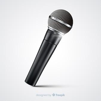 Microfono moderno realistico