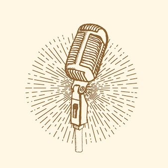 Microfono stile vintage