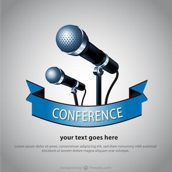 Microfono vettore poster design