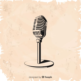 Microfono vintage disegnato a mano