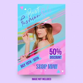 Miglior design di moda bella vendita flyer modello