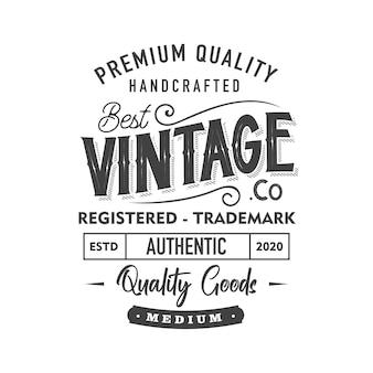 Miglior etichetta di abbigliamento retrò vintage