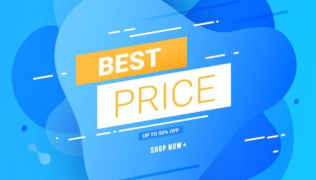 Miglior prezzo / banner di forme geometriche astratte di colore liquido