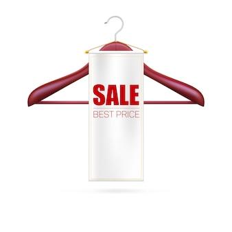 Miglior prezzo di vendita. appendiabiti e cartellino.
