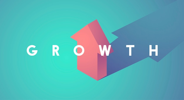 Miglioramento della crescita aumentare l'icona freccia su
