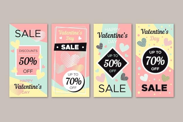 Migliore collezione di storie di vendita di san valentino