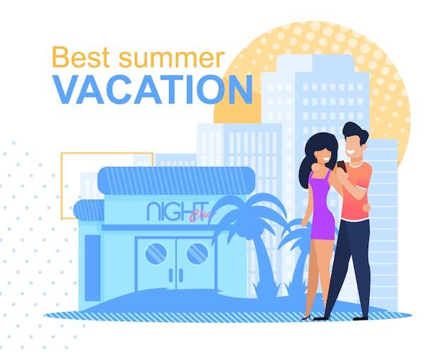 Migliore vacanza estiva in famiglia o honemoon per giovani sposi