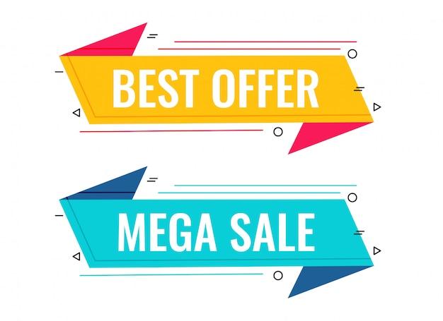 Migliore vendita e offerta set di banner di memphis