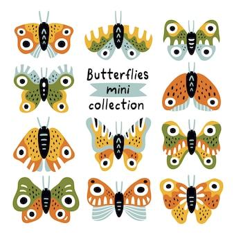 Mini-collezione di farfalle