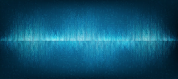 Mini digital sound wave tecnologia di fondo