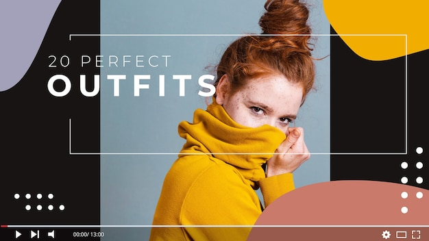 Miniatura di youtube per fashion blogger