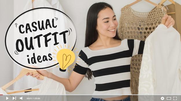 Miniatura youtube di fashion videoblogger