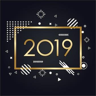 Minimalista elegante nuovo anno