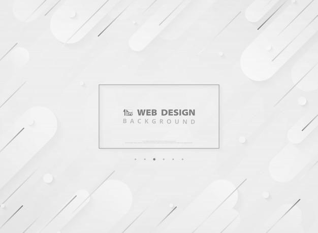 Minimalista geometrico moderno bianco di atterraggio di pagina web di progettazione moderna