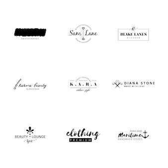 Minimalista logo insieme di modelli