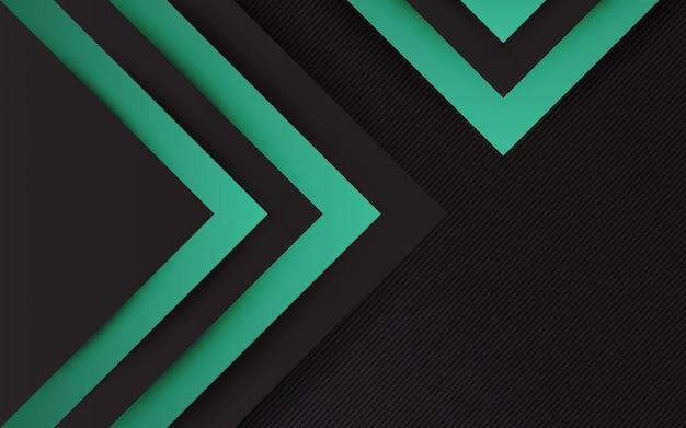 Minimo moderno di colore nero e verde astratto del fondo