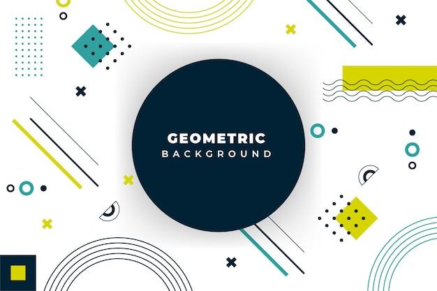 Minimo sfondo geometrico con forma